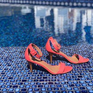 Bright Peach Talbots Sandals, Sz 7.5